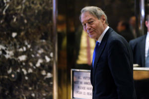 CBS news host Charlie Rose departs after meeting with U.S. President-elect Donald Trump at Trump Tower in the Manhattan borough of New York, U.S., November 21, 2016.