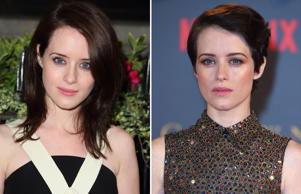 LONDON, ENGLAND - OCTOBER 08: Claire Foy attends a gala dinner hosted by the BFI ahead of the London Film Festival at 8 Northumberland Avenue on October 8, 2013 in London, England. (Photo by Mike Marsland/WireImage); 'The Crown' TV Show premiere, London, UK - 21 Nov 2017 Claire Foy