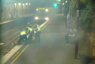 Woman trapped on train track saved by police