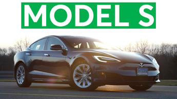 a car parked in a parking lot: 2016 Tesla Model S Quick Drive