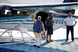 PM Modi travels in India's first seaplane