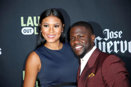 Comedian Kevin Hart and his pregnant wife Eniko Parrish