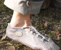 Bizarre chain mail socks promise to improve your running
