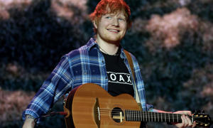 Ed Sheeran performing on stage: Ed Sheeran's album Divide has broken chart records after logging a total 19 weeks at No1 this year.