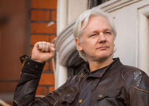 "File photo dated 19/05/17 of Julian Assange, as his lawyers are taking a case to court, arguing that a UK arrest warrant against him has ""lost its purpose."""