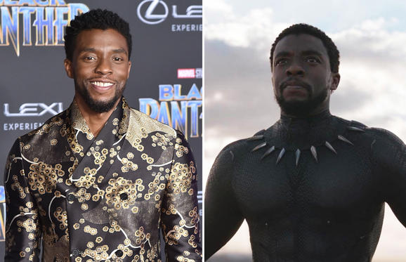Slide 1 of 14: HOLLYWOOD, CA - JANUARY 29: Chadwick Boseman attends the Premiere Of Disney And Marvel's 'Black Panther' - Arrivals on January 29, 2018 in Hollywood, California. (Photo by David Crotty/Patrick McMullan via Getty Images); Black Panther - 2018 Chadwick Boseman