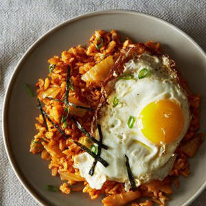 a bowl of food: Kimchi Fried Rice