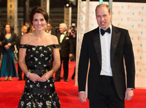 The Duke and Duchess of Cambridge attending the EE British Academy Film Awards held at the Royal Albert Hall, Kensington Gore, Kensington, London.