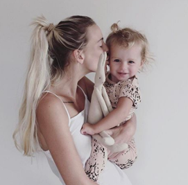 Jordyn and her daughter Winter.