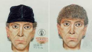 8/1985- Los Angeles, CA: Color composite of police sketches of the LA Nightstalker Killer.