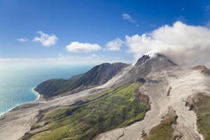 The active Soufriere Hills Volcano in Montserrat (Getty Images/iStockphoto)
