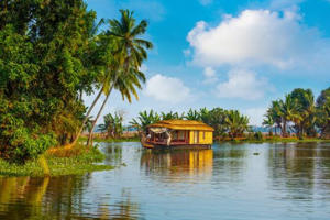 A houseboat on Kerala's tranquil backwaters (Getty Images/iStock/The Palmer)