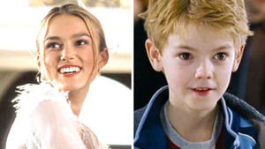 Love Actually's Keira Knightley and Thomas Brodie-Sangster.