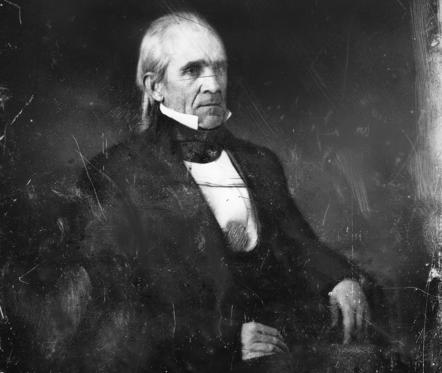 Slide 1 of 10: James K. POLK 1795-1849, 11th President of the United States, photographed by Mathew Brady, c. 1840s