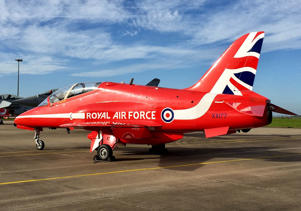 File photo dated 28/09/16 of a Red Arrows Hawk TMk1 XX177 at RAF Scampton, the plane involved in the death of RAF Flight Lieutenant Sean Cunningham, who was killed after being ejected from the cockpit whilst still on the ground at RAF Scampton in Lincolnshire in 2011.
