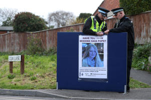 Police put up a missing person notice for Gaia Pope in Swanage, Dorset, after a 71-year-old woman arrested in connection with the missing teenager