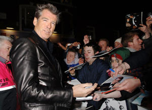 Pierce Brosnan arrives at the UK film premiere of 'The Matador', at the Notting Hill Coronet Cinema, west London, Tuesday 21 February 2006.