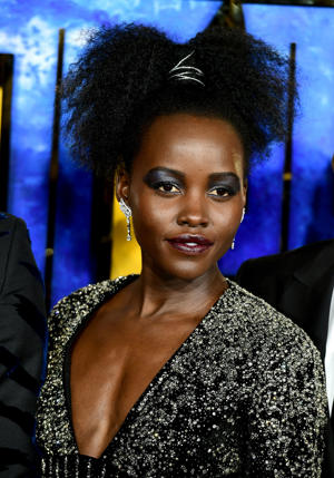 Lupita Nyong'o attending The Black Panther European Premiere at The Eventim Apollo Hammersmith London.