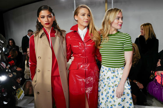Slide 1 of 88: Michael Kors show, Fall Winter 2018, New York Fashion Week, USA - 14 Feb 2018 Zendaya, Blake Lively, Emily Blunt in the front row