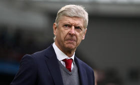 BRIGHTON, ENGLAND - MARCH 04:  Arsene Wenger, Manager of Arsenal looks on during the Premier League match between Brighton and Hove Albion and Arsenal at Amex Stadium on March 4, 2018 in Brighton, England.  (Photo by Catherine Ivill/Getty Images)