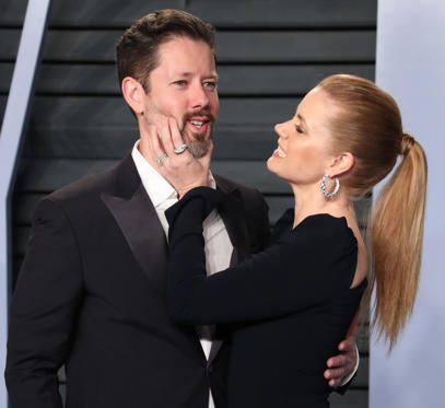 Slide 1 of 41: Mandatory Credit: Photo by Matt Baron/REX/Shutterstock (9448428bf) Darren Le Gallo and Amy Adams Vanity Fair Oscar Party, Arrivals, Los Angeles, USA - 04 Mar 2018