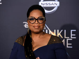 LOS ANGELES, CA - FEBRUARY 26: Oprah Winfrey attends Premiere Of Disney's 'A Wrinkle In Time' - Arrivals on February 26, 2018 in Los Angeles, California. (Photo by Presley Ann/Patrick McMullan via Getty Images)