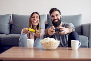 Couple playing a video game (representational image)