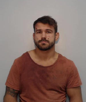 Undated Greater Manchester Police handout photo of Scott Moore, a rugby player who has been jailed at Bolton Crown Court after pleading guilty to dangerous driving and three counts of assault.