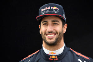 Daniel Ricciardo poses for photographs for the Formula One Grand Prix Qualifying Sessions at Albert Park GP Circuit in Melbourne.