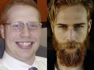 a man wearing glasses posing for the camera: gwilym pugh
