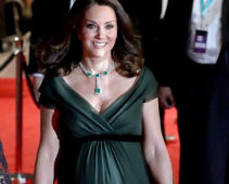 Kate Middleton wears green To BAFTAS amid all-black dress code