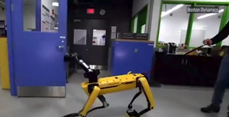 Not even a human can stop this door-opening robot