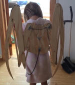 Watch: Dad builds wings for his daughter's costume