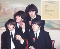 Rare letter from The Beatles goes up for auction
