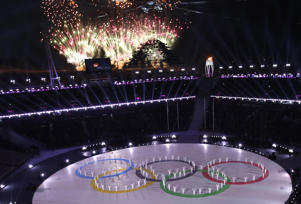 Fireworks explode during the closing ceremony on Feb. 25 in Pyeongchang, South Korea.