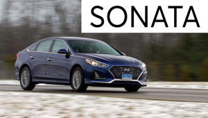 a car parked on the side of a road: 2018 Hyundai Sonata Road Test