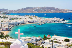 Typical view on greek island mykonos