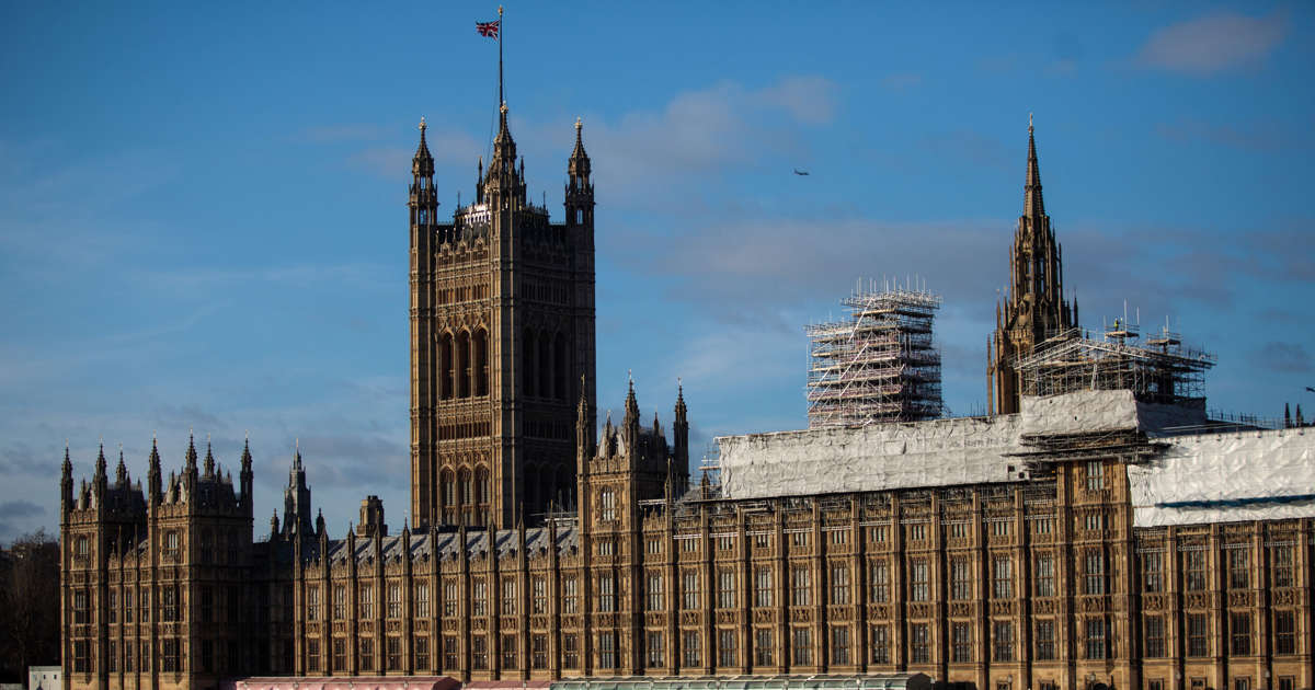 Two taken to hospital after suspect package at British parliament