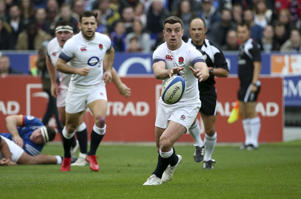 PARIS, FRANCE - MARCH 10: George Ford of England during the NatWest 6 Nations championship rugby match between France and England at Stade de France on March 10, 2018 in Saint-Denis near Paris, France. (Photo by Jean Catuffe/Getty Images)