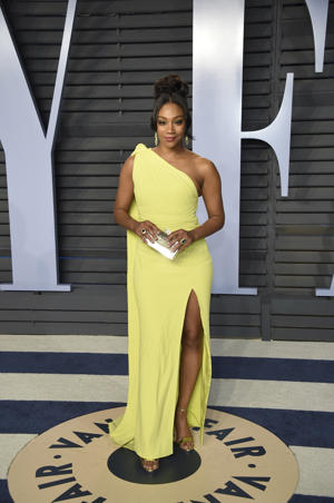 Tiffany Haddish arrives at the Vanity Fair Oscar Party on Sunday, March 4, 2018, in Beverly Hills, Calif.
