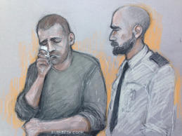 Ryszard Masierak (left) appearing at High Wycombe Magistrates' Court.