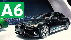 a car parked on the side of a road: 2018 New York Auto Show: 2019 Audi A6