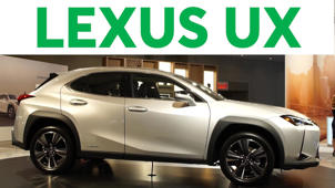 a car parked in a parking lot: 2018 New York Auto Show: 2019 Lexus UX