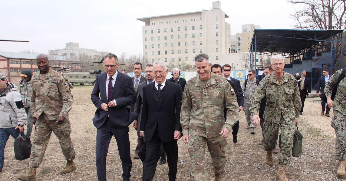 U.S. Defense Secretary Mattis arrives in Afghan capital