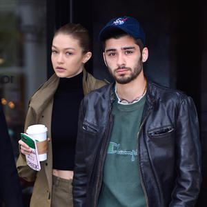 Gigi Hadid and Zayn Malik seen out in Manhattan on  April 25, 2017 in New York City.  (Photo by Robert Kamau/GC Images)