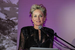 Sharon Stone during the Charity Gala benefiting 'Planet Hope' foundation at Kempinski Grand Hotel des Bains on December 28, 2017 in St. Moritz, Switzerland.