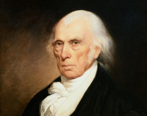 Slide 1 of 13: Early 19th Century American Portrait of President James Madison   (Photo by Geoffrey Clements/Corbis/VCG via Getty Images)