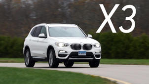 a car parked on the side of a road: 2018 BMW X3 Road Test
