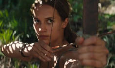 Undated handout still from a trailer for the new film, Tomb Raider , starring Oscar winner Alicia Vikander.