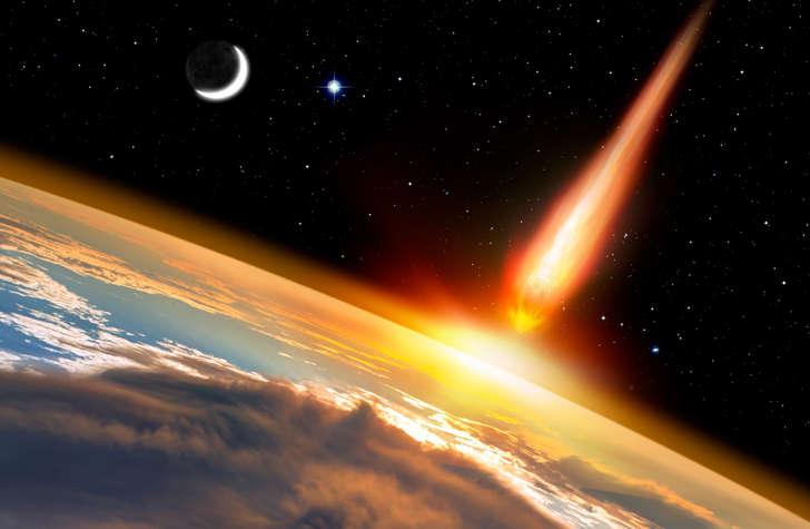 © shutterstock.com - Atak asteroidy na Ziemię - Obraz opracowany przez NASA